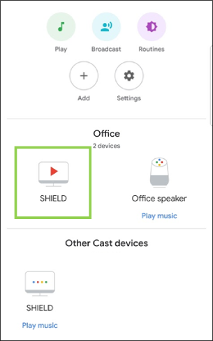 connect google home to Nvidia shield